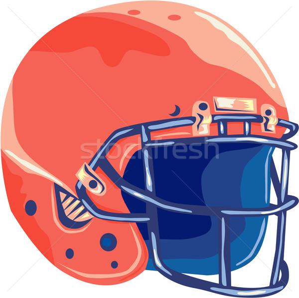 American Football Helmet Wpa Vector Illustration C Aloysius Patrimonio Patrimonio 6507136 Stockfresh