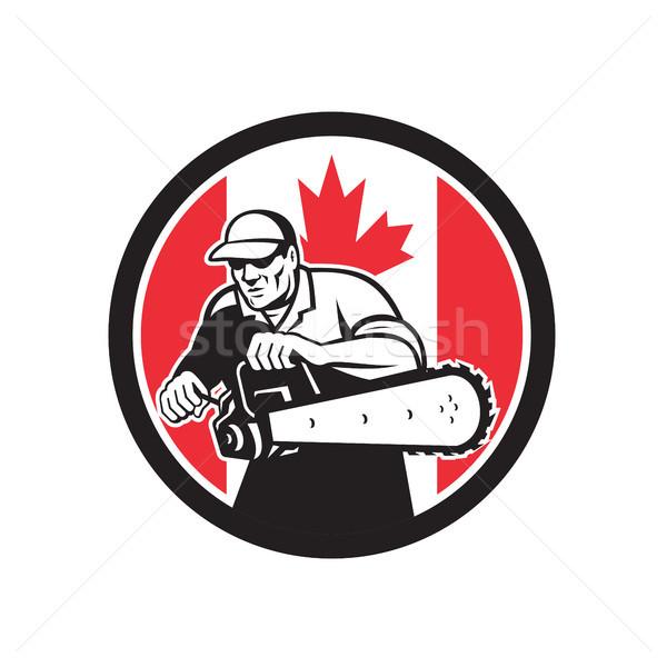 Stok fotoğraf: Ağaç · cerrah · Kanada · bayrak · ikon