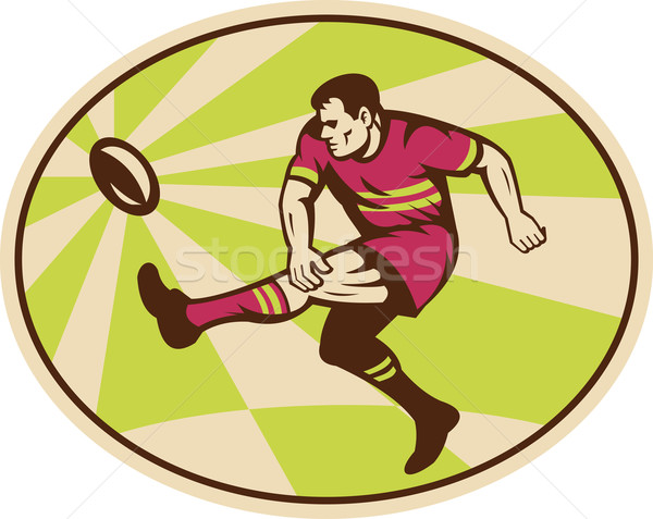 rugby player kicking the ball Stock photo © patrimonio