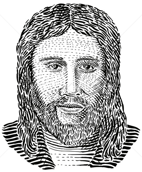 Jesus christ vue illustration style rétro Photo stock © patrimonio