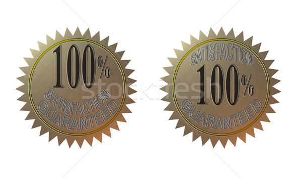 100 memnuniyet garantili altın mühürlemek örnek Stok fotoğraf © patrimonio
