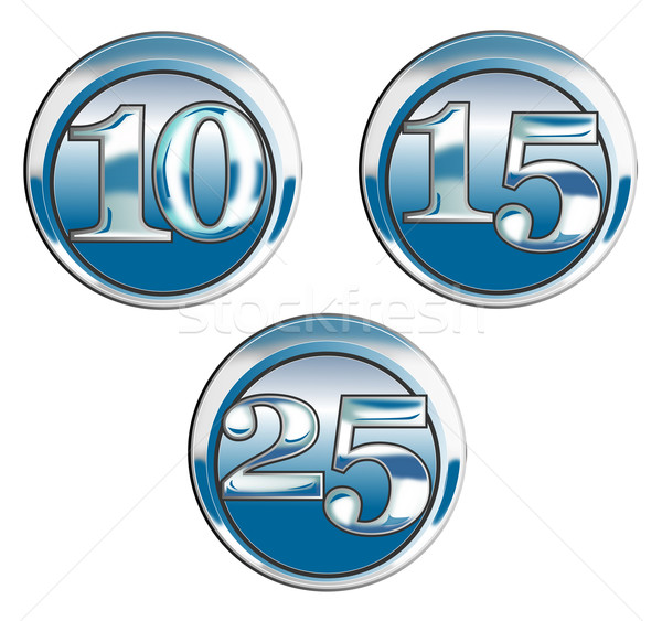 10 15 25 mavi krom örnek Stok fotoğraf © patrimonio