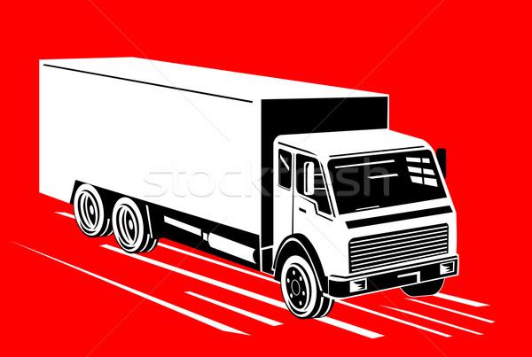 White truck top view Stock photo © patrimonio