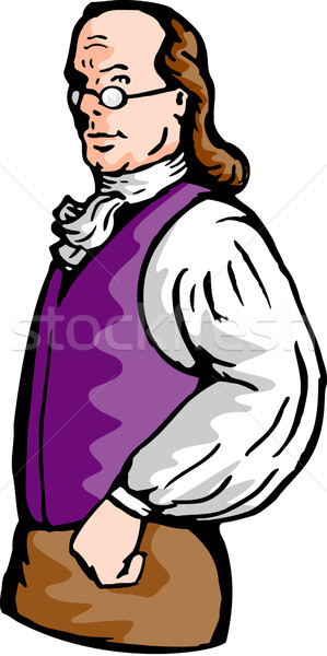 Benjamin Franklin gentleman Stock photo © patrimonio