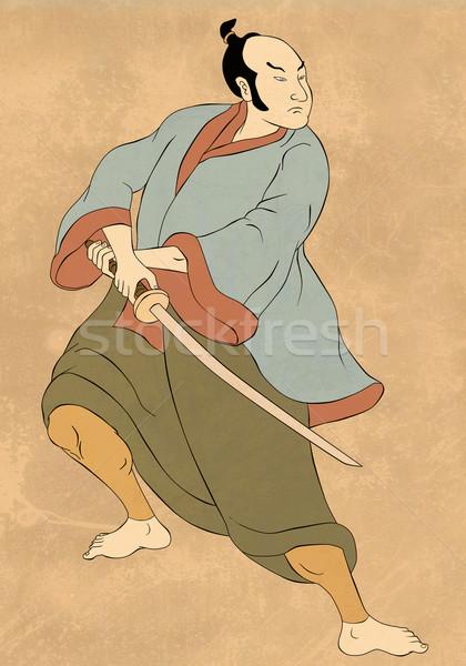 武士 戦士 剣 スタンス 実例 ストックフォト © patrimonio