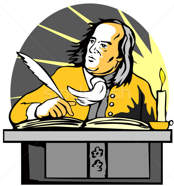 Ben Franklin Writing Retro Stock photo © patrimonio