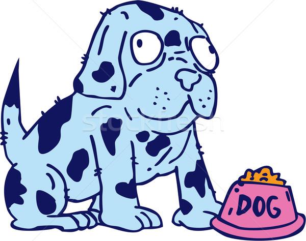 Spotted Dog Food Bowl Cartoon Stock photo © patrimonio