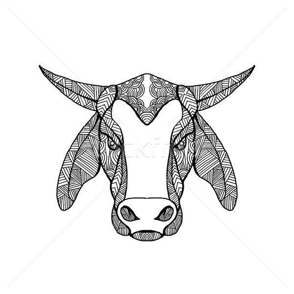 Brahma Bull Head Mandala Stock photo © patrimonio