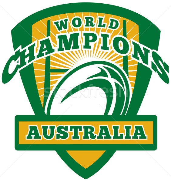 Rugby ball Australia World Champions  Stock photo © patrimonio