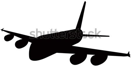 Commercial Jet Plane Airline Woodcut Stock photo © patrimonio