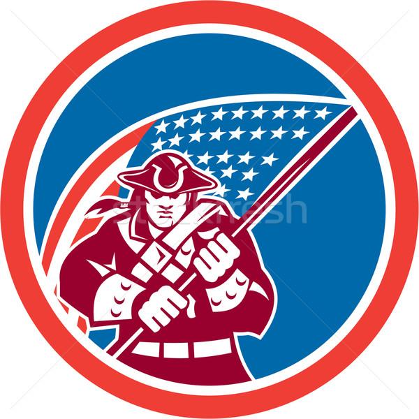 Amerykański patriota banderą kółko ilustracja Zdjęcia stock © patrimonio