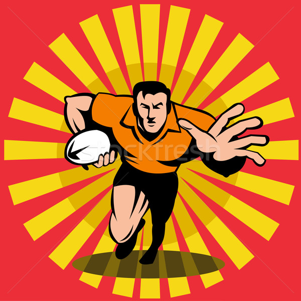rugby player fend off ball Stock photo © patrimonio