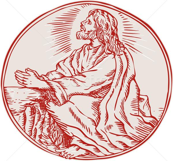 Jesus christ doodsangst tuin handgemaakt Stockfoto © patrimonio