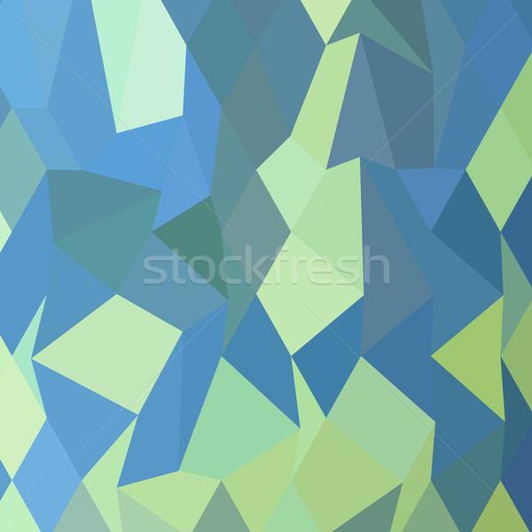 Lime Green Pastel Blue Abstract Low Polygon Background Stock photo © patrimonio