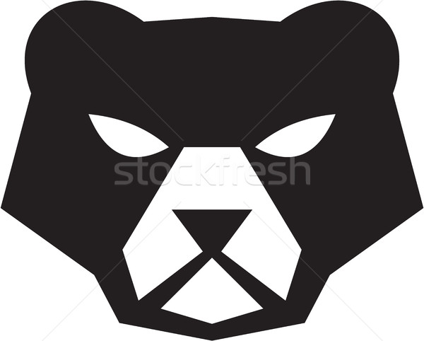 American Black Bear Head Retro Stock photo © patrimonio