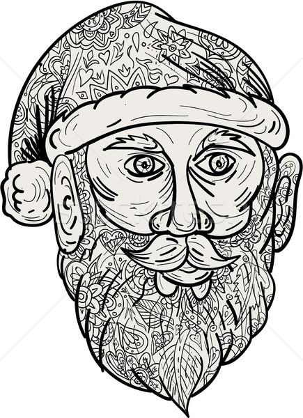 サンタクロース 頭 曼陀羅 スタイル 実例 向い ストックフォト © patrimonio