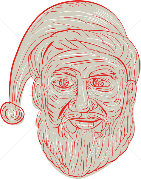 Melancholy Santa Claus Head Drawing Stock photo © patrimonio