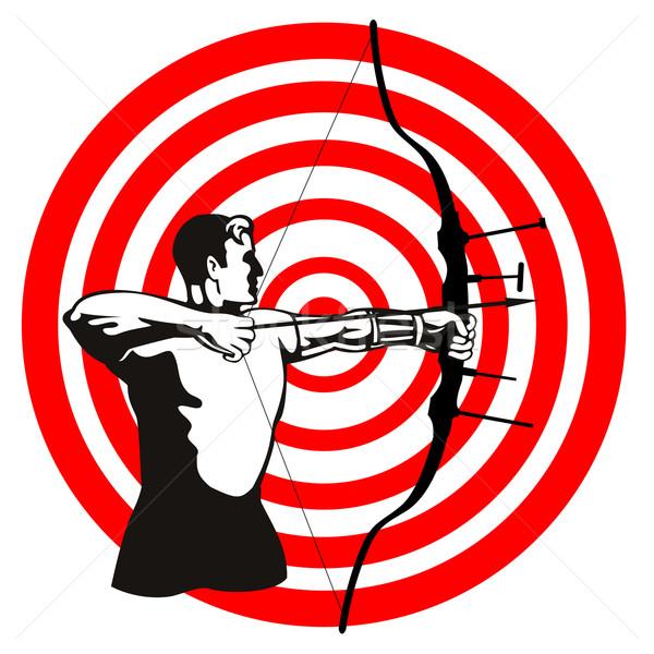 лучник лук стрелка целевой иллюстрация стороны Сток-фото © patrimonio