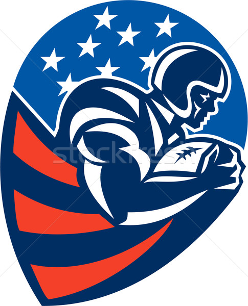 American Football Rushing Running Back  Stock photo © patrimonio