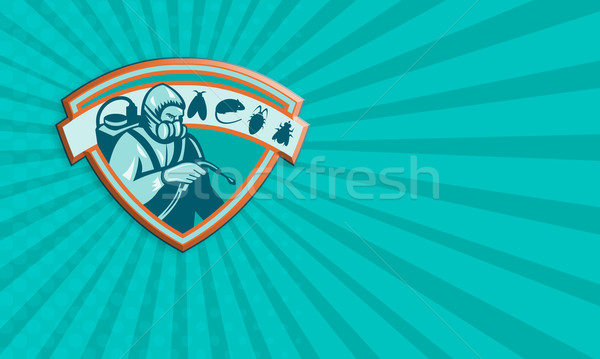 Trabajador escudo ilustración rata Foto stock © patrimonio