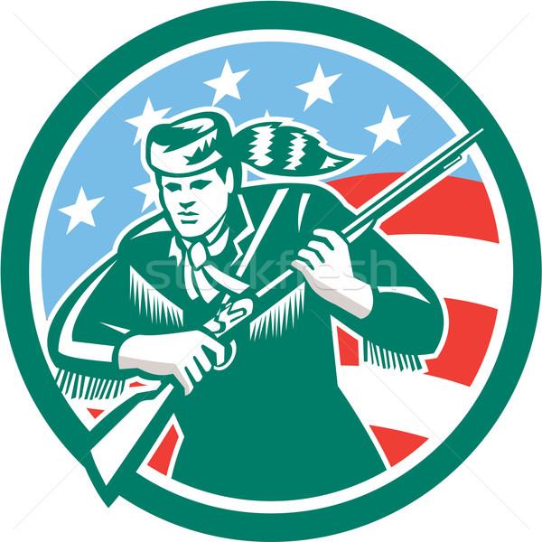 American Frontiersman Daniel Boone Circle Retro Stock photo © patrimonio