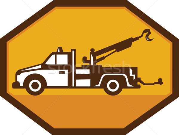 Vintage Tow Wrecker Truck Retro Stock photo © patrimonio