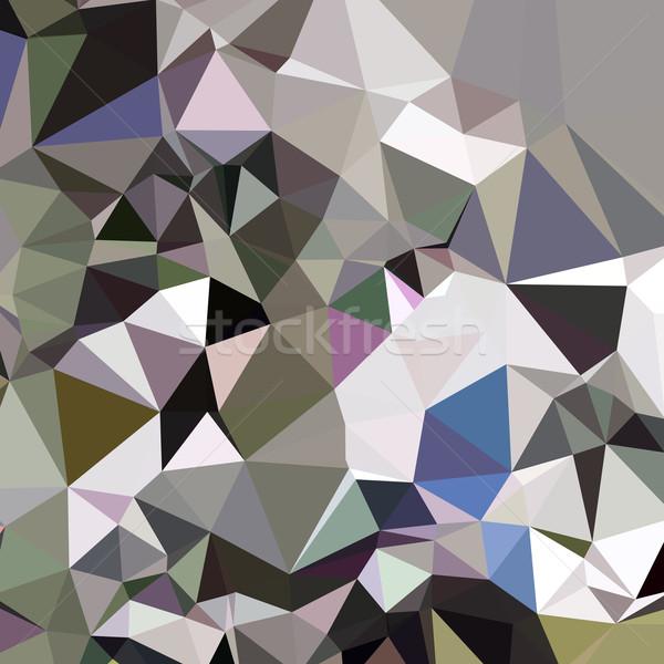 Davy Grey Abstract Low Polygon Background Stock photo © patrimonio