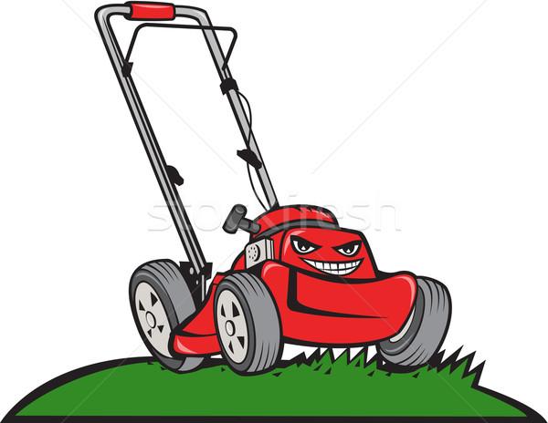 Lawnmower Front Isolated Cartoon Stock photo © patrimonio