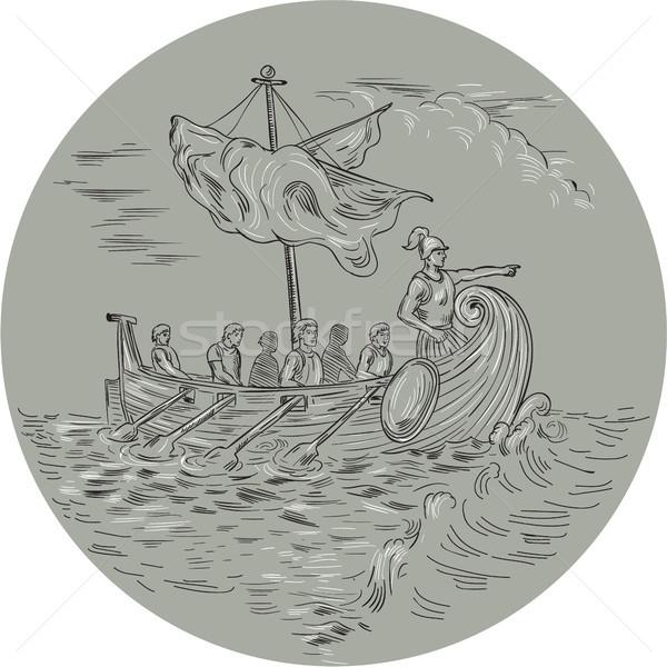 Antigua griego círculo dibujo boceto estilo Foto stock © patrimonio