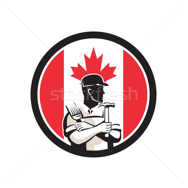 Canadian DIY Expert Canada Flag Icon Stock photo © patrimonio