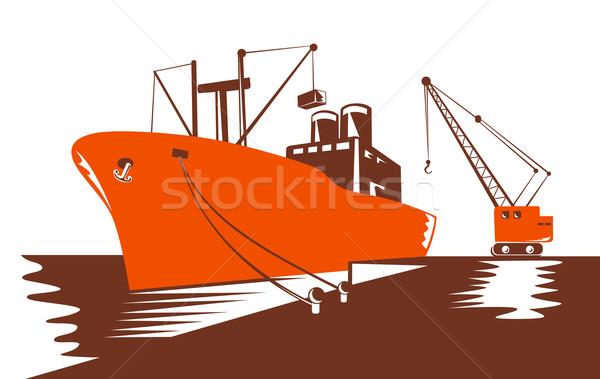 Passenger Cargo Ship with Crane Stock photo © patrimonio