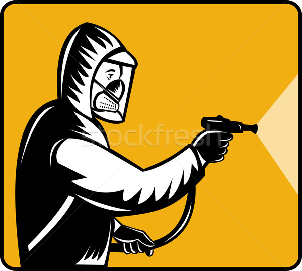 Pest control exterminator spraying pesticide  Stock photo © patrimonio