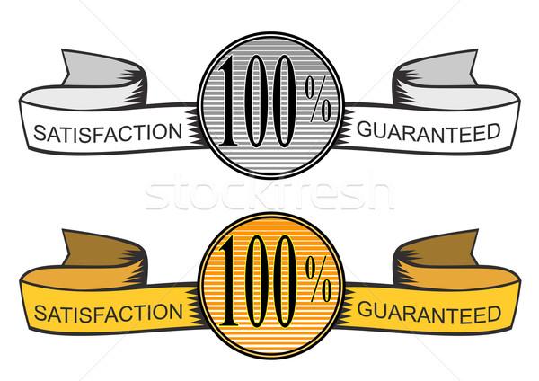 Circle with Ribbons 100% Satisfaction Guarantee Stock photo © patrimonio