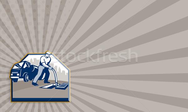 Drain chirurg retro tonen illustratie werknemer Stockfoto © patrimonio