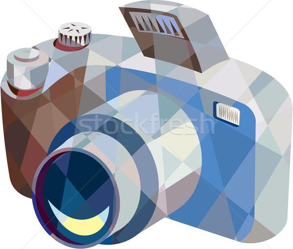 Kamera dslr düşük çokgen stil örnek Stok fotoğraf © patrimonio