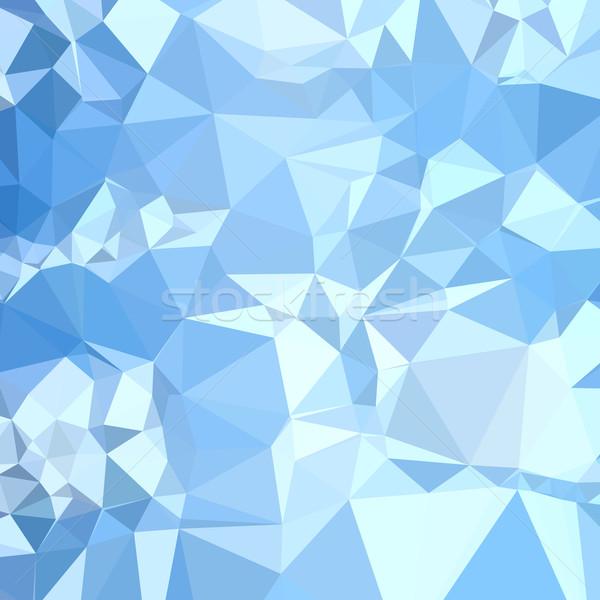 Sneeuwstorm Blauw abstract laag veelhoek stijl Stockfoto © patrimonio