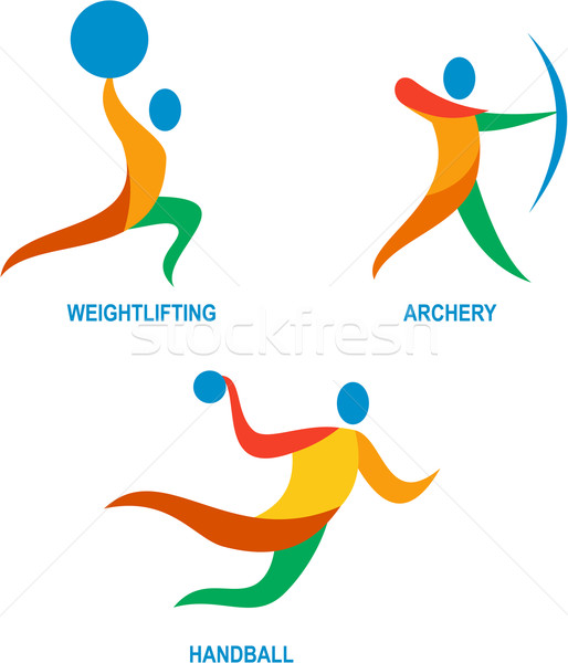 Archery Weightlifting Handball Icon Stock photo © patrimonio