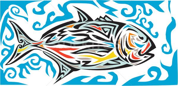 Gigant strona plemiennych sztuki stylu ilustracja Zdjęcia stock © patrimonio
