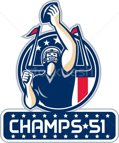 Football Champs 51 New England Retro Stock photo © patrimonio