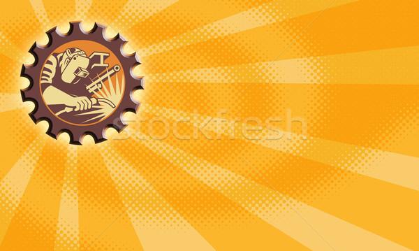 Welder Worker Welding Torch Retro Stock photo © patrimonio