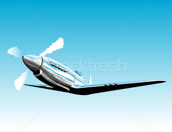 Pervane uçak Retro örnek savaşçı mustang Stok fotoğraf © patrimonio
