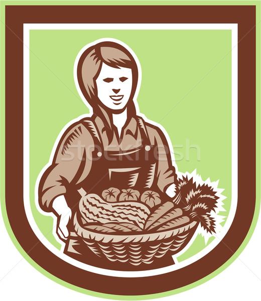 女性 オーガニック 農家 ファーム 作り出す 収穫 ストックフォト © patrimonio