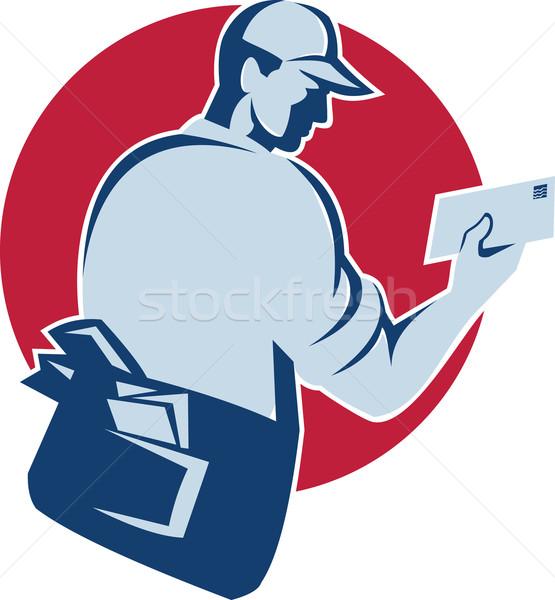 Postbode werknemer illustratie mail envelop Stockfoto © patrimonio