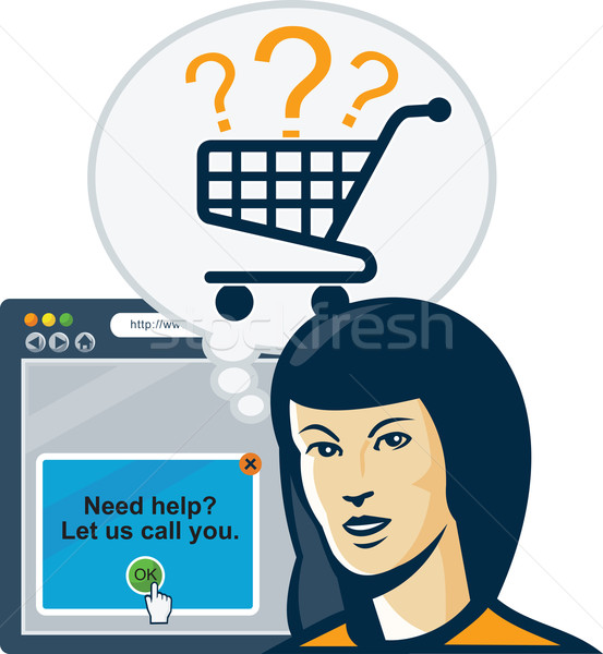 Female Internet Shopper Shopping Cart Stock photo © patrimonio