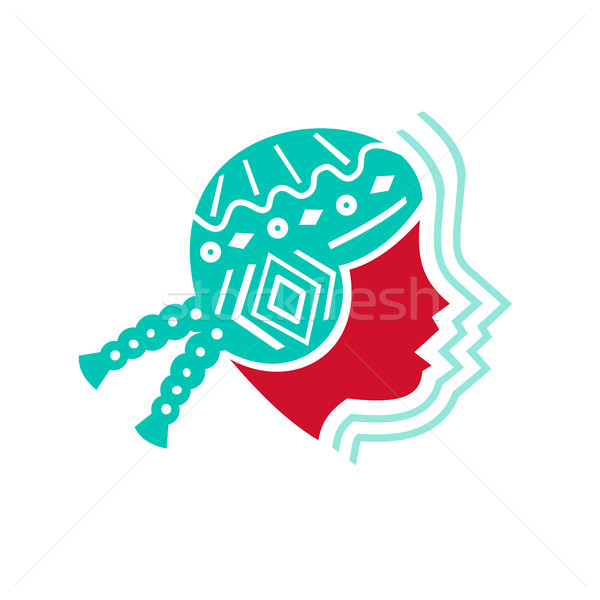 Peruvian Girl Hat Side Icon Stock photo © patrimonio