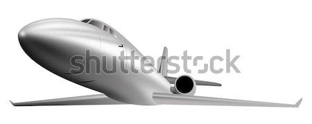 Silver corporate jet isolated on white background Stock photo © patrimonio