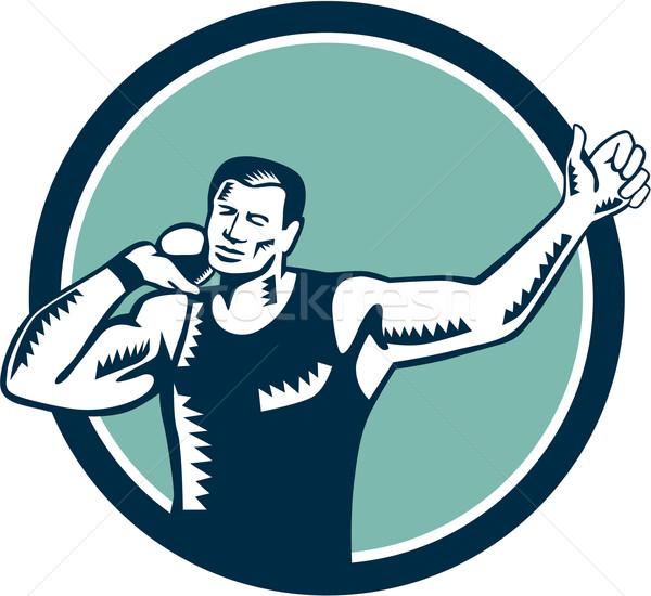 Tiro seguir campo atleta ilustração pronto Foto stock © patrimonio