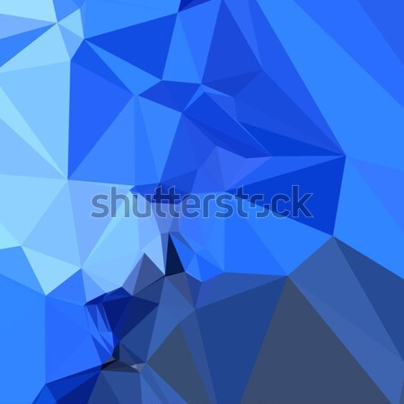 синий аннотация низкий многоугольник стиль иллюстрация Сток-фото © patrimonio