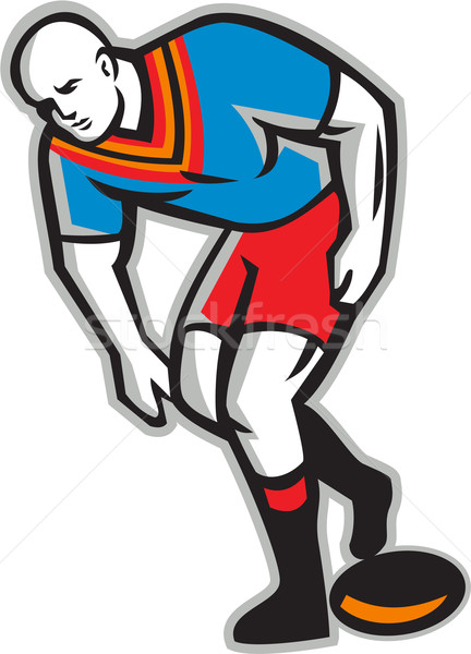 регби лига игрок играет мяча ретро Сток-фото © patrimonio