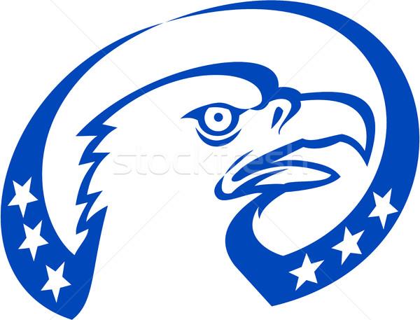 лысые орел голову звезды искать ретро Сток-фото © patrimonio